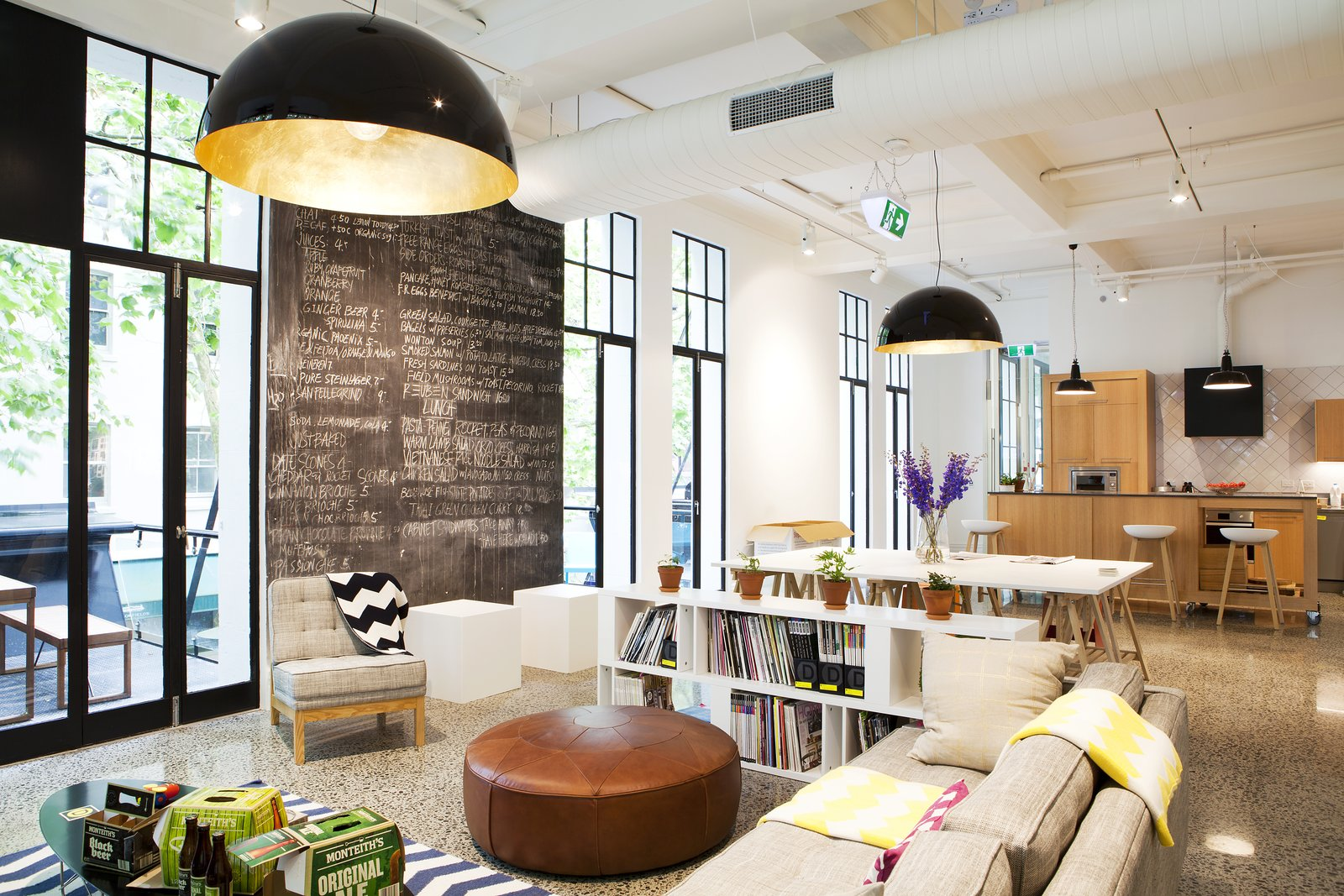 Designworks' office - formerly an art gallery in downtown Auckland - honors its past by keeping with an open floor plan and abundant natural light.  Photo 5 of 5 in Spotlight on Work Spaces That Double as Art Galleries