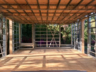 Openings are framed and ready for energy-efficient Western Windows.