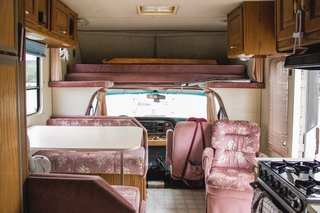 A peek at the front of the RV.