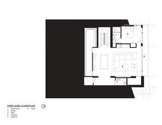 Tank Hill Residence floor plan — first floor