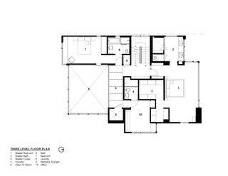Tank Hill Residence floor plan — third floor