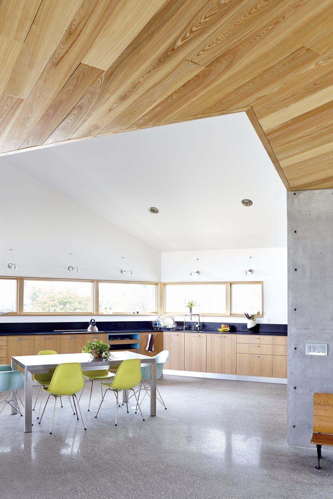 Kitchen, Wood Cabinet, and Concrete Floor  Seagrape House by Traction Architecture
