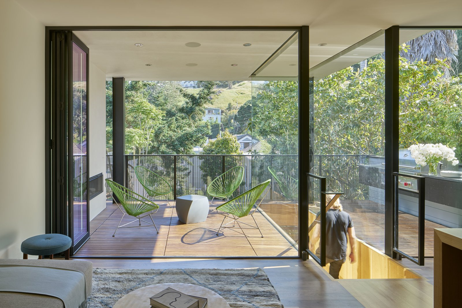 Outdoor, Wood Patio, Porch, Deck, and Metal Fences, Wall  29th Street Residence by Schwartz and Architecture