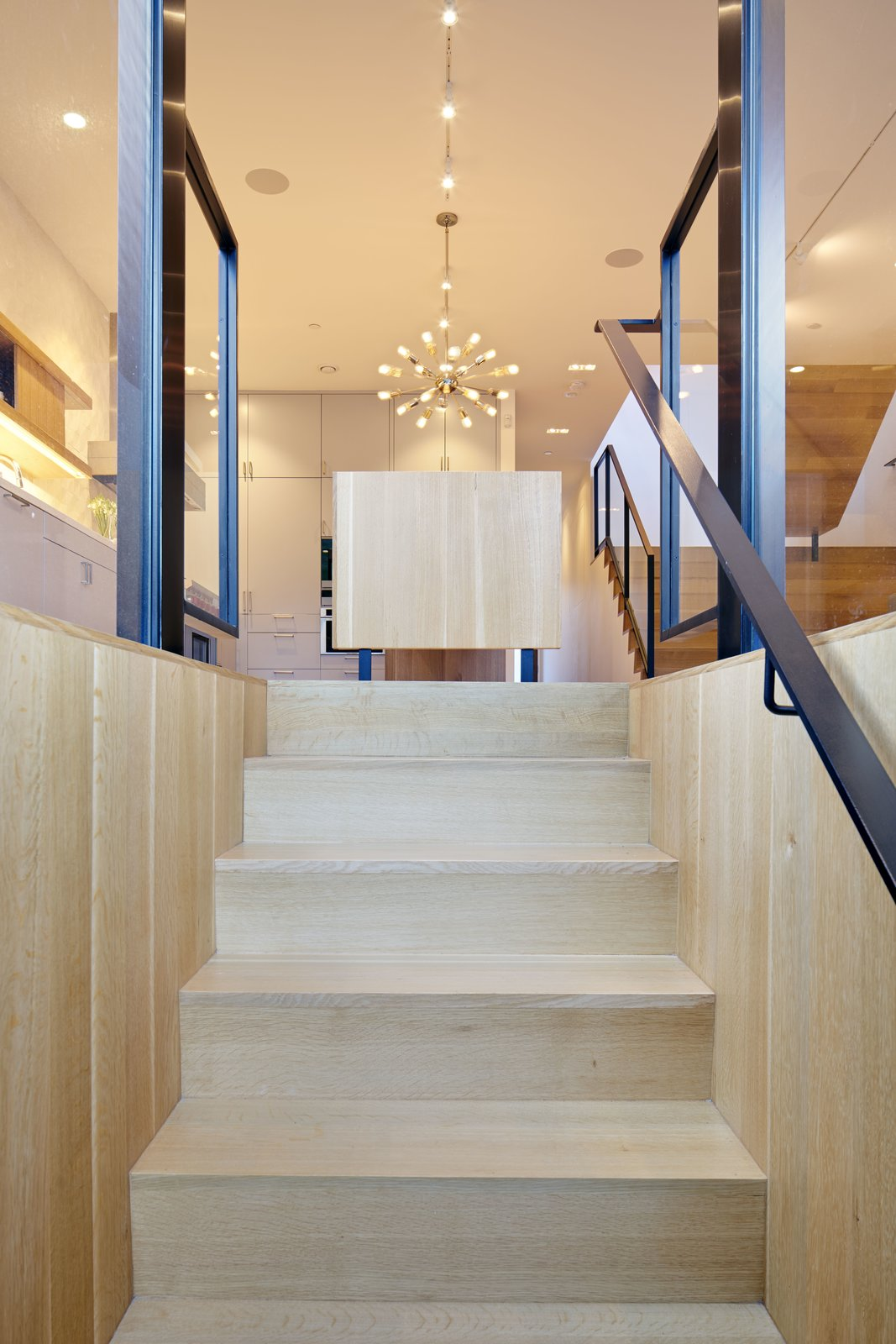 Staircase, Wood Tread, and Metal Railing  29th Street Residence by Schwartz and Architecture