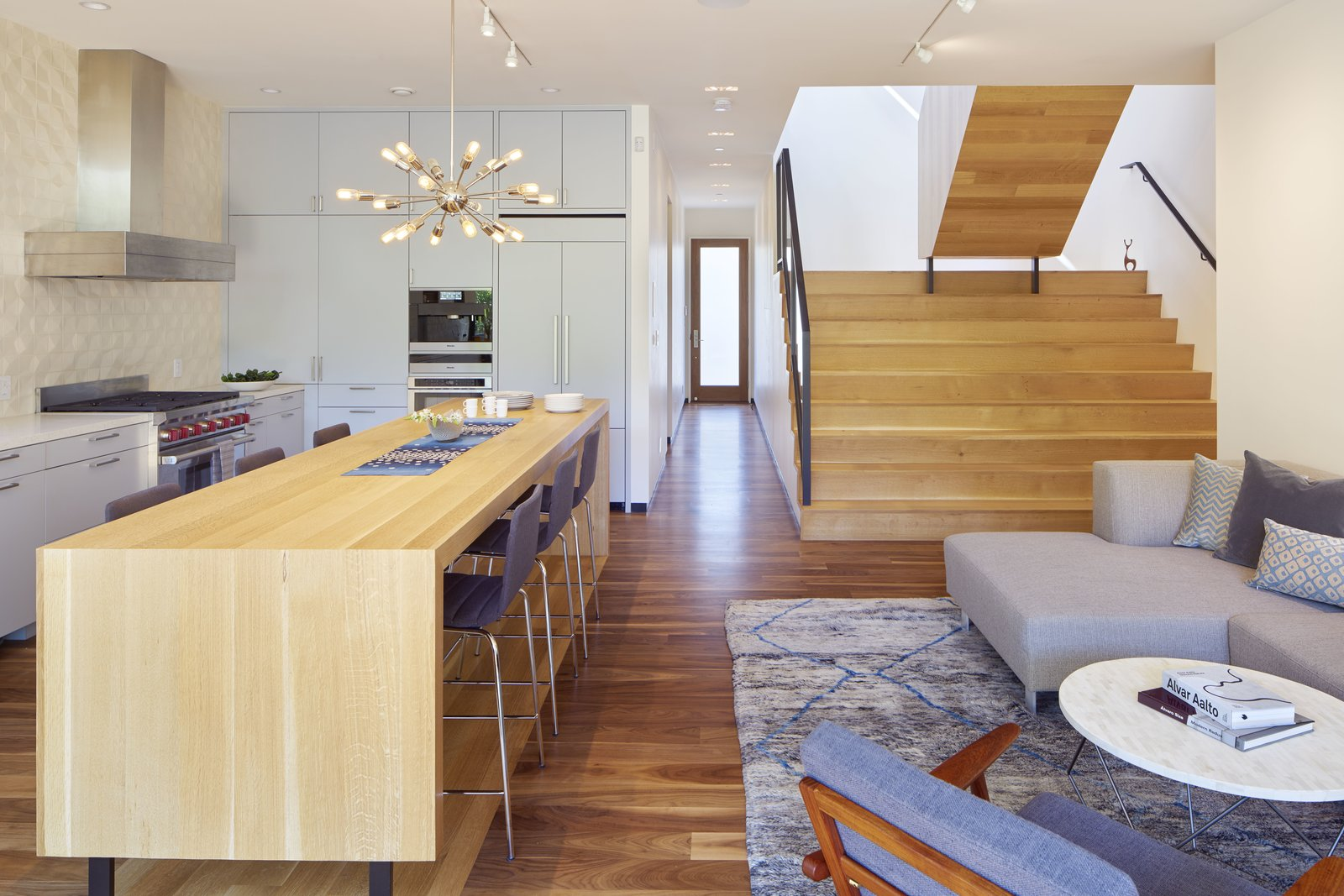 Living Room  29th Street Residence by Schwartz and Architecture