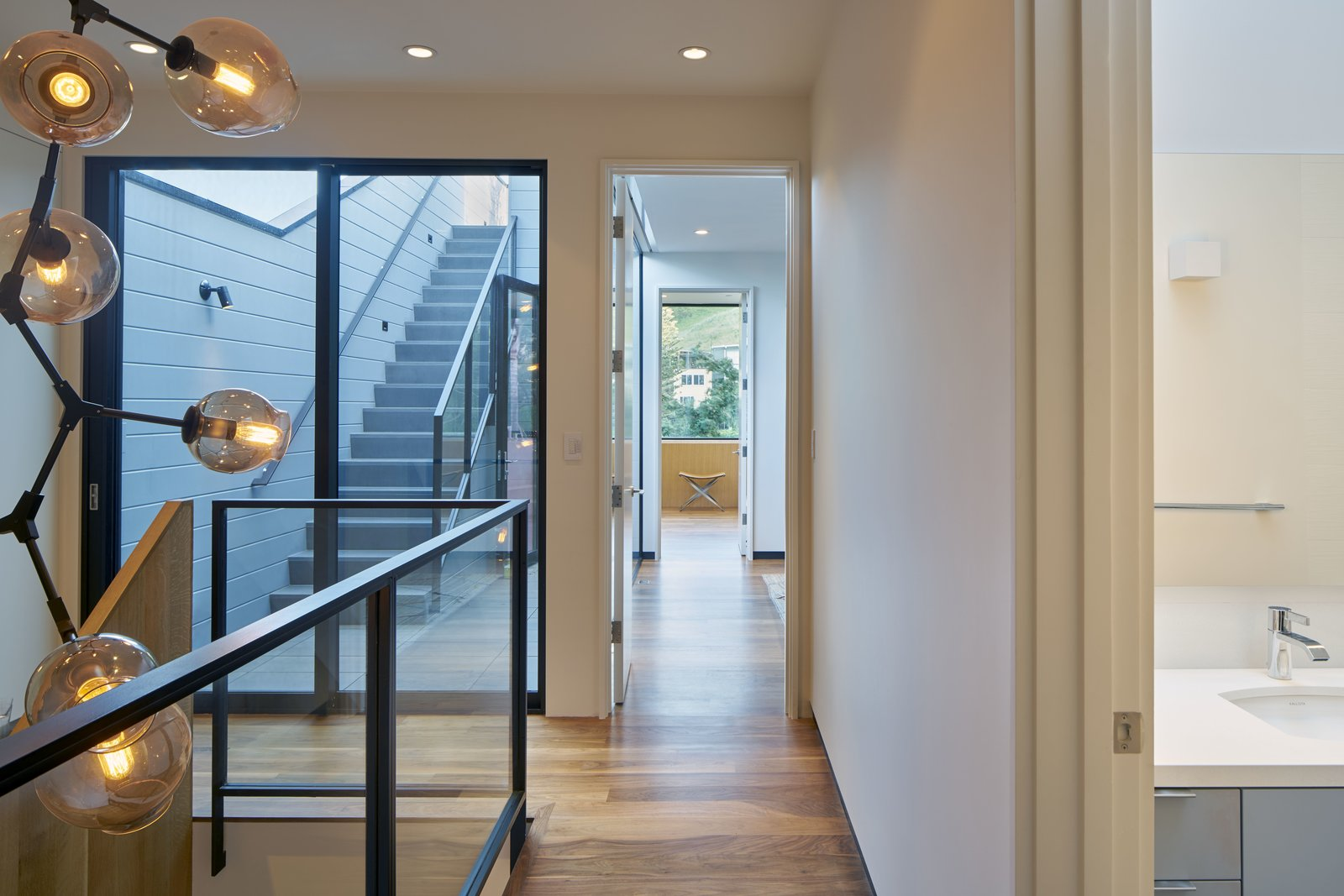 Hallway  29th Street Residence by Schwartz and Architecture