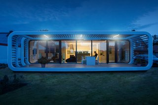 Meet the Prefab Unit That's Smart, Mobile, and Sustainable - Photo 1 of 11 - A residential project in Bielefeld, Germany features an outdoor patio.