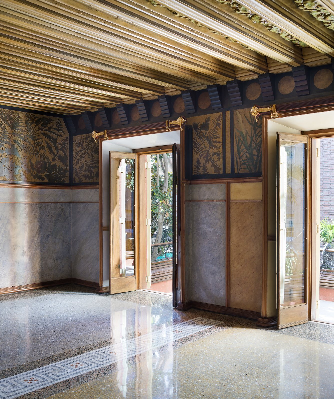 Doors, Swing Door Type, Wood, and Exterior  Photo 7 of 11 in Gaudí's Fantastic Casa Vicens Opens to the Public For the First Time