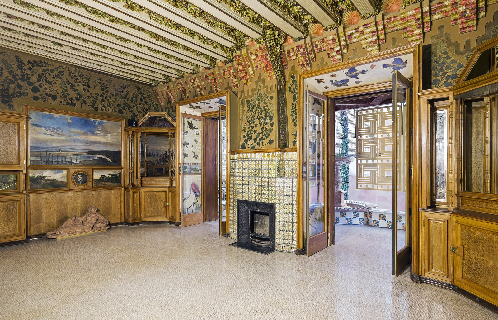 Living Room and Standard Layout Fireplace  Photo 3 of 11 in Gaudí's Fantastic Casa Vicens Opens to the Public For the First Time