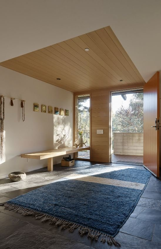 Hallway and Light Hardwood Floor  Haiku House by SHED Architecture & Design