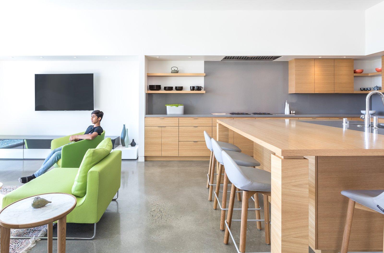 Kitchen, Undermount, Cooktops, Range Hood, Concrete, Engineered Quartz, Wood, and Recessed  Best Kitchen Cooktops Recessed Range Hood Concrete Photos from Folsom
