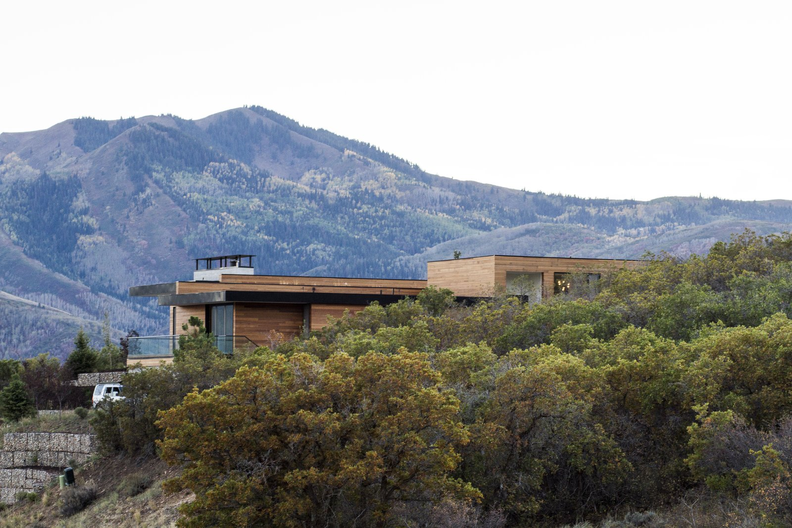 Outdoor, Trees, Hardscapes, and Side Yard  Park City Modern Residence by Sparano + Mooney Architecture