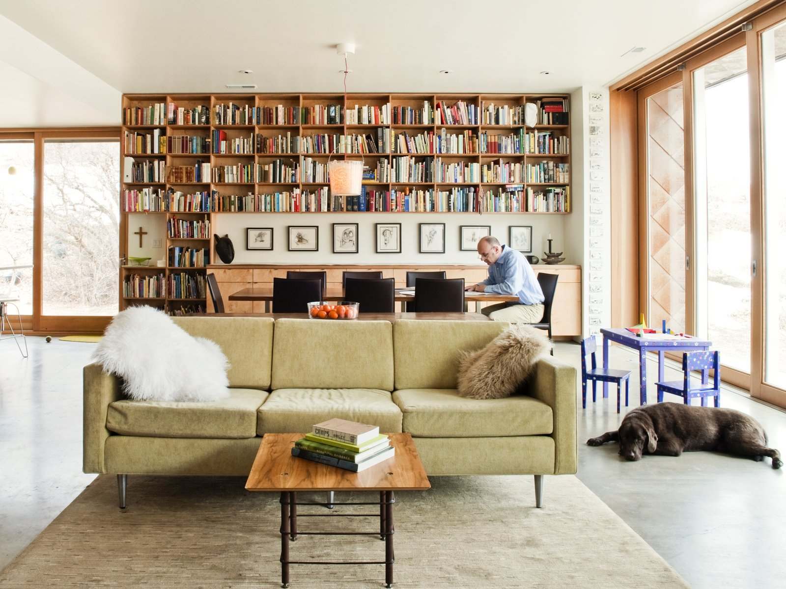 Living Room, Sofa, and Coffee Tables  Emigration Canyon Residence by Sparano + Mooney Architecture