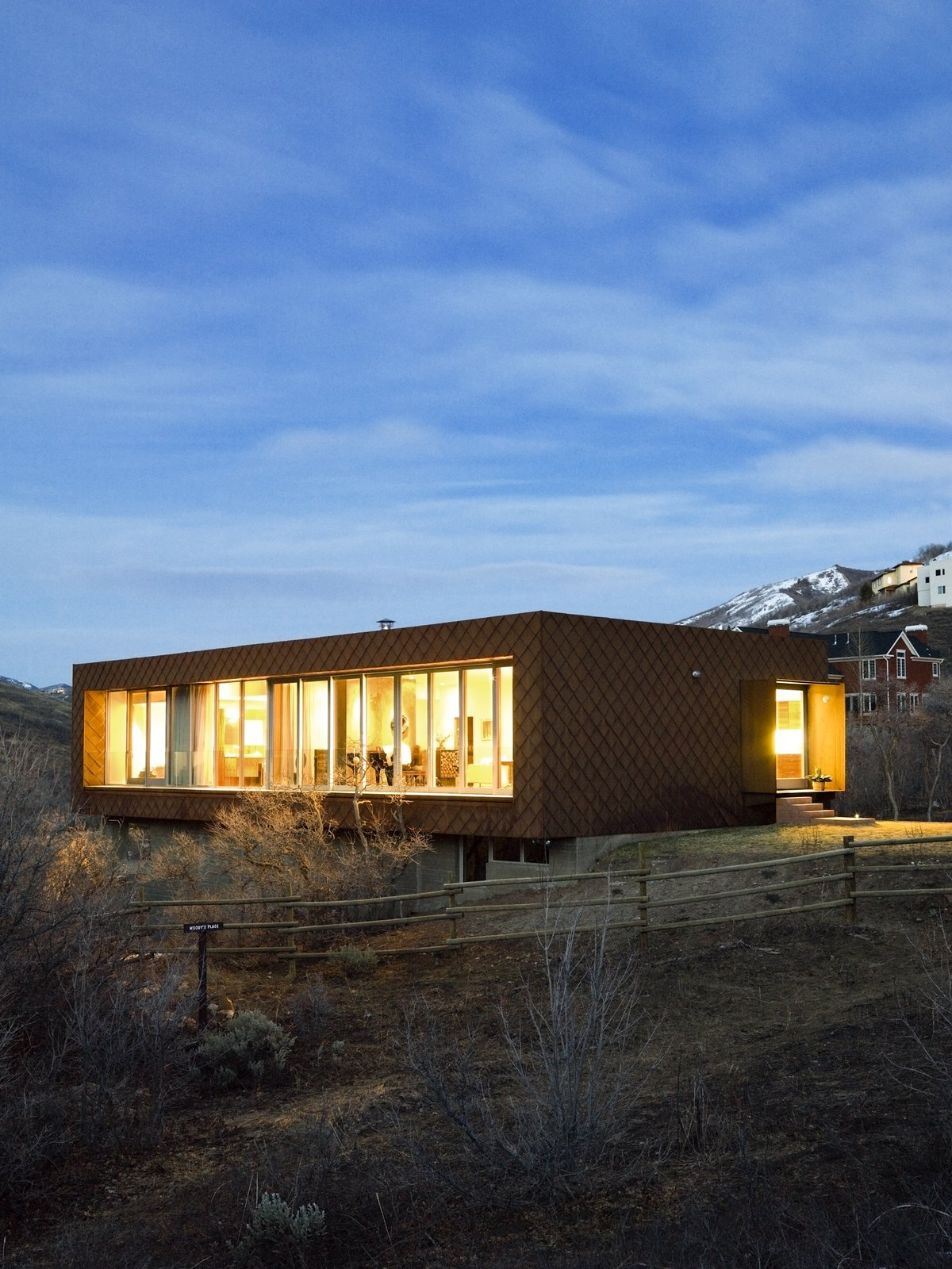 Exterior, Flat RoofLine, and House Building Type  Emigration Canyon Residence by Sparano + Mooney Architecture
