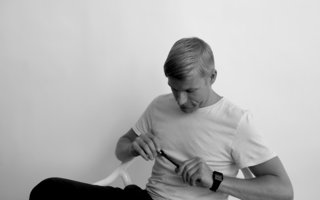 The Swedish designer Jonas Wagell, who designed the Happy Whale for Normann Copenhagen.