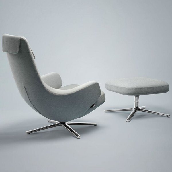 Repos Lounge Chair and Ottoman by Vitra