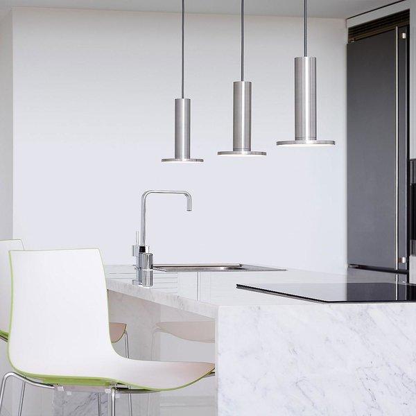 Pablo Designs Cielo Satin Aluminum LED Pendant