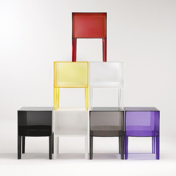 Small Ghost Buster Night Table by Kartell