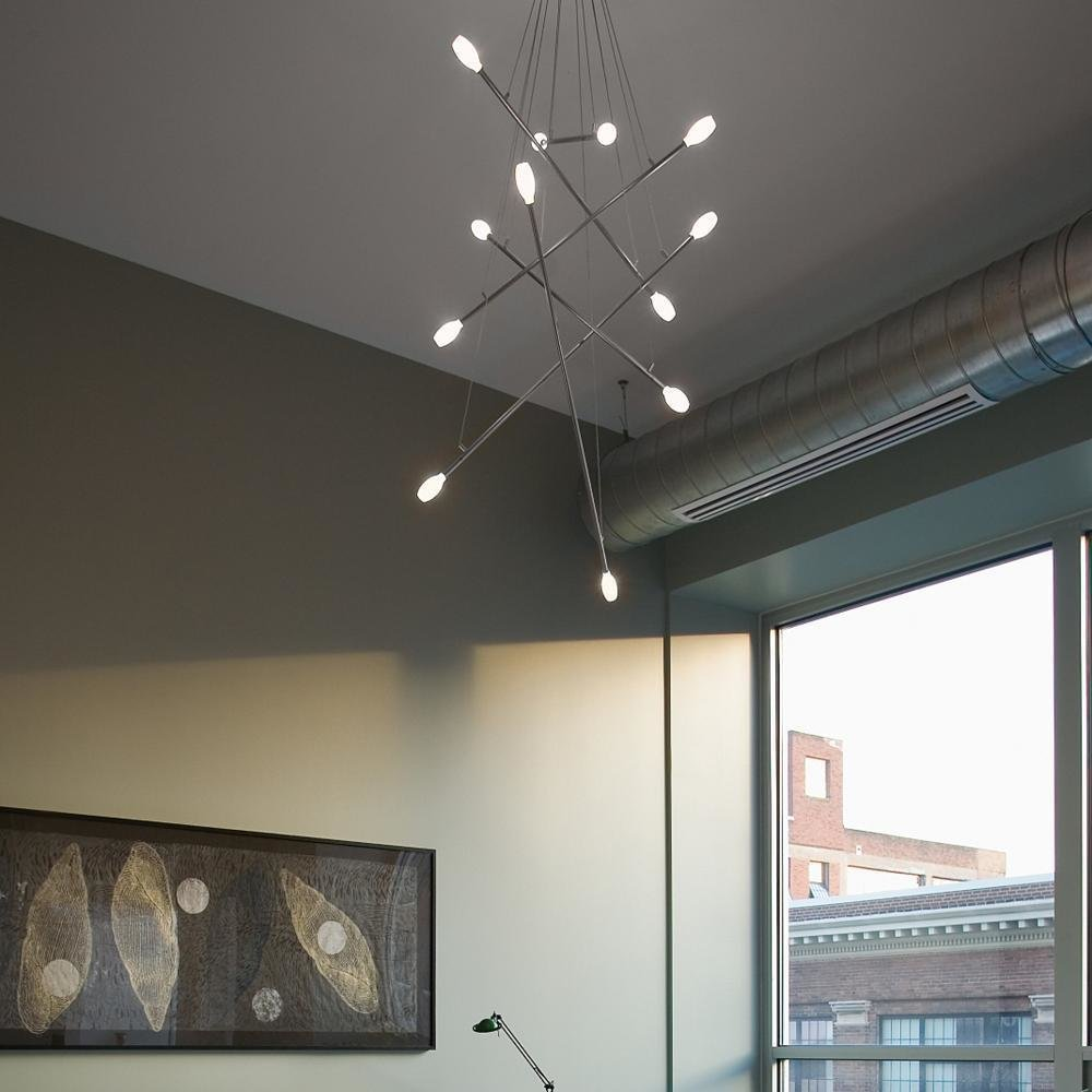 batons chandelier by lbl lighting by lumens dwell