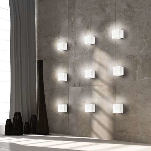 Cubi Wall or Ceiling Light from Leucos