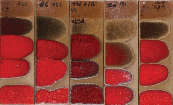 Glaze tests are created by hand to determine the desired application and its gram weight.