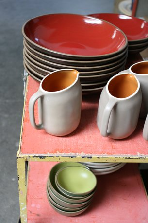 Finished ware, just out of the kiln.