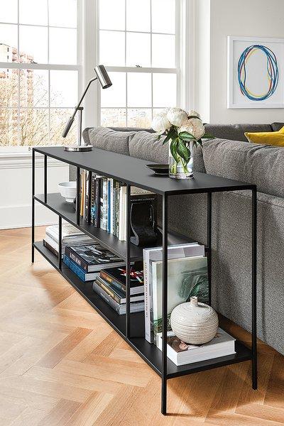Coda table lamp, Foshay bookcase