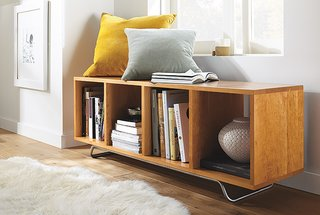 Ferris cubby bench in cherry