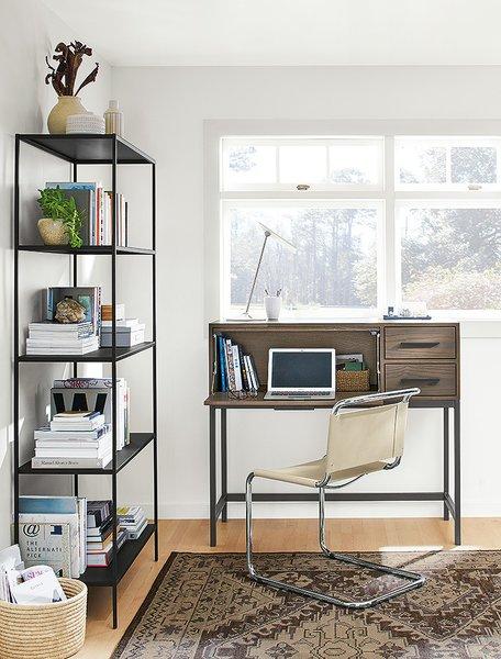 Alden office armoire, open