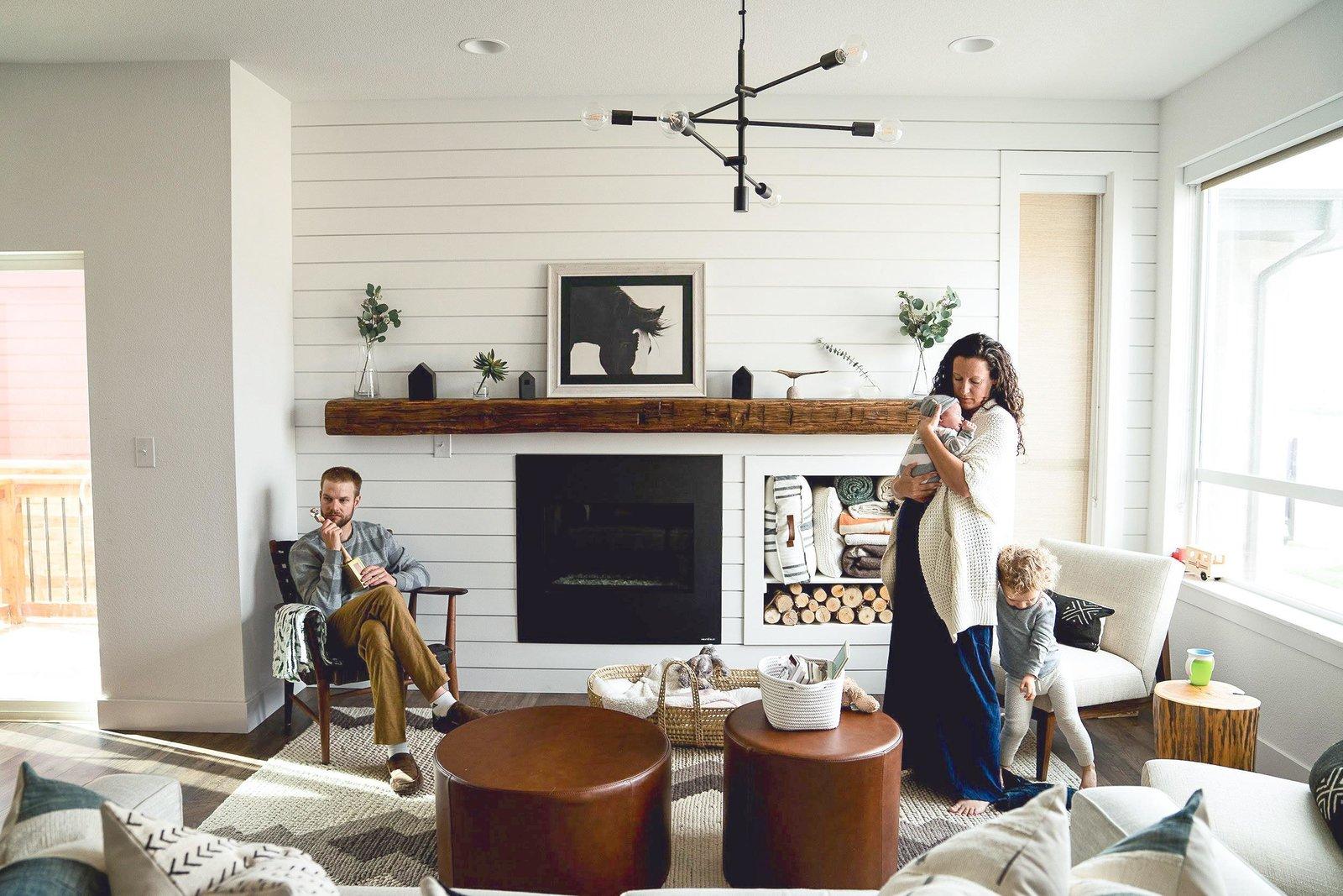Beach inspired family friendly living room