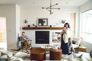 Beach-Inspired, Family Friendly Living Room - Dwell