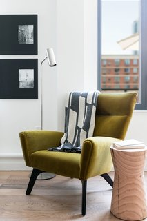 Boden chair, Coda floor lamp, Reclaimed wood shape, Manhattan picture frames