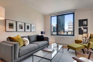 Cade sofa, Tyne coffee table, Boden chair