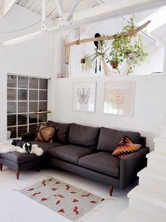 Jasper sofa with chaise in Dawson ash