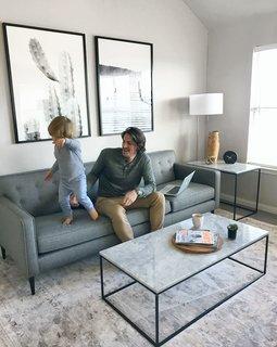 Holmes sofa in Sumner graphite