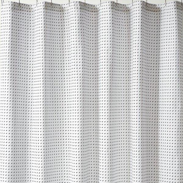 Stitch White + Black Shower Curtain