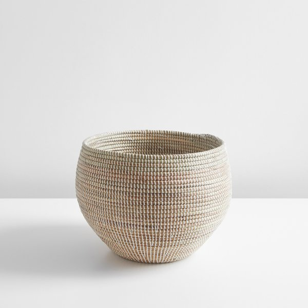 Tilden White Medium Basket