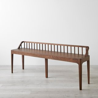 Spindle Walnut Bench
