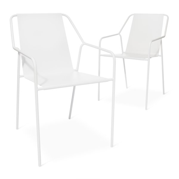 Outdoor Dining Chair - Set of 2, $149.99; available in gray or white; designed by Chris Deam and Nick Dine for Modern by Dwell Magazine for Target
