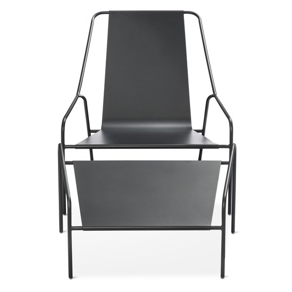 Posture Chair and Ottoman Set, $269.99; available in gray, orange, or white; designed by Chris Deam and Nick Dine for Modern by Dwell Magazine for Target