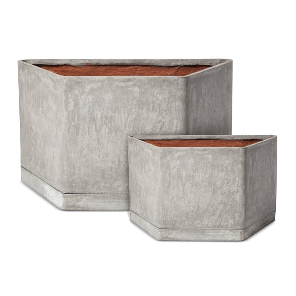 Hexagonal Concrete Planter, 89.99; available in small or large; designed by Chris Deam and Nick Dine for Modern by Dwell Magazine for Target