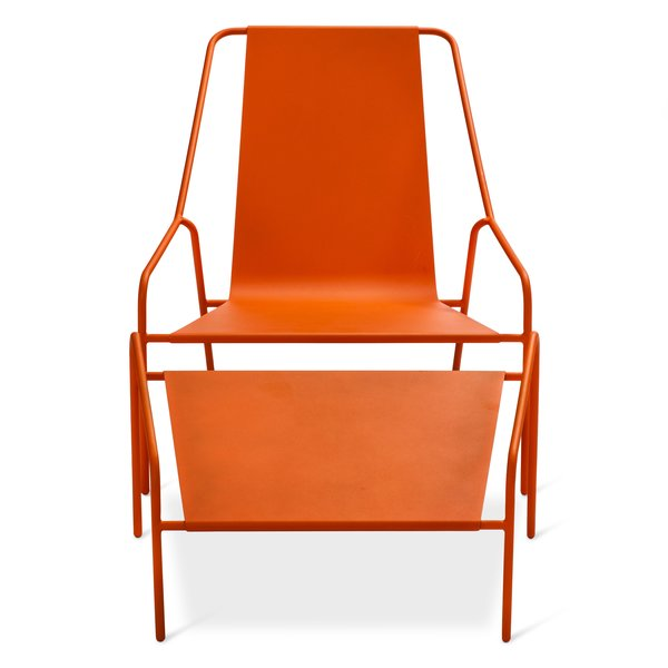 Posture Chair and Ottoman Set, $269.99, available in gray, orange, or white; designed by Chris Deam and Nick Dine for Modern by Dwell Magazine for Target