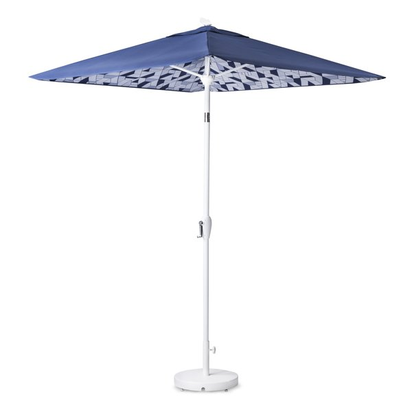 Umbrella, $119.99; Base, $49.99; designed by Chris Deam and Nick Dine for Modern by Dwell Magazine for Target