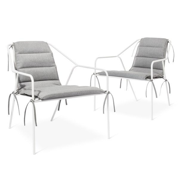 Outdoor Lounge Chair - Set of 2, $269.99,available in gray or white; Cushion - Set of 2, $99.99,available in gray or white; designed by Chris Deam and Nick Dine for Modern by Dwell Magazine for Target