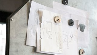 Made Not Manufactured - Photo 1 of 6 - Our Creative Director, Jeremy Pyles, starts each new piece with a sketch.