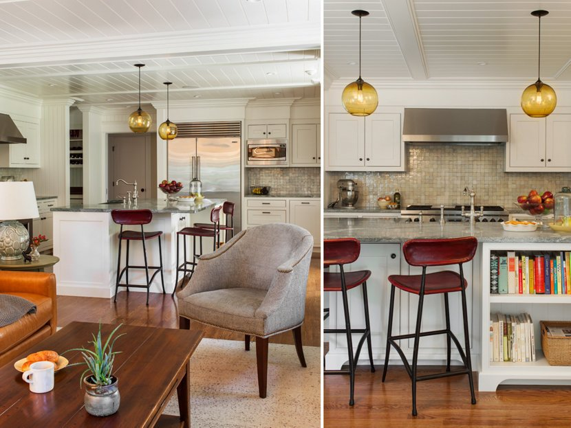 Photo 3 of 3 in Contemporary Kitchen Island Lighting Shines in New England Residence