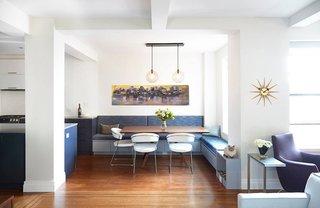 Breakfast Nook Modern Lighting Inside a Modern Manhattan Home