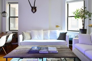Table Pendant Lighting Adds to New York City Home's Unique Minimalism - Photo 3 of 3 -