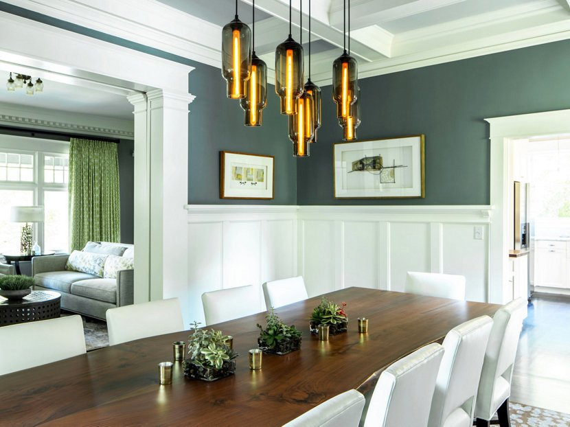 Dining Room Pendant Lighting Sets The Mood In An Eclectic Oregon Home