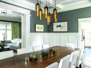 Dining Room Pendant Lighting Sets the Mood in an Eclectic Oregon ...